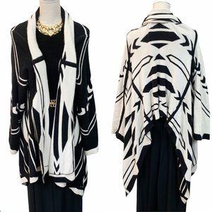Cynthia Vincent Reversible Navajo Blanket Cardigan